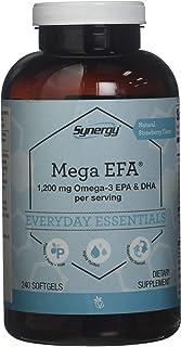 Vitacost Synergy Mega EFA® Mini Gels - 1200 mg per serving Omega 3 EPA & DHA Natural Strawberry -- 240 Softgels