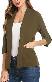 Women's Casual Lightweight Long Sleeve Open Front Work Office Blazer Jacket S-XXL