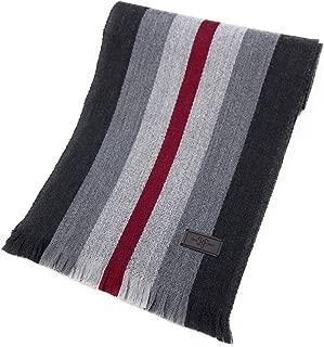 Men's Wool Scarf - 100% Australian Merino Wool, 72 inches x 10 inches, by Hickey Freeman
