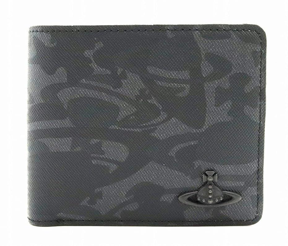 カートン共和党隠[ヴィヴィアン ウエストウッド] Vivienne Westwood オーブ 2つ折財布 PVC レザー ブラック 黒 グレー VWK253-13-F [中古]