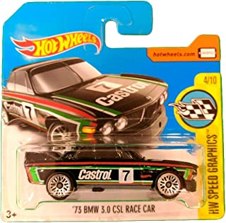 Hot Wheels '73 BMW 3.0 CSL Race Car - Serie HW Speed Graphics 4/10 (Short card)
