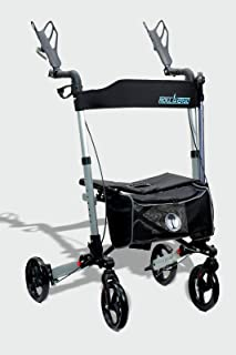 New Roller-GO Double Foldable Adult Mobility Rollator Upright Walker,Stand Up Double Folding Rollator Walker Rolling Mobil...