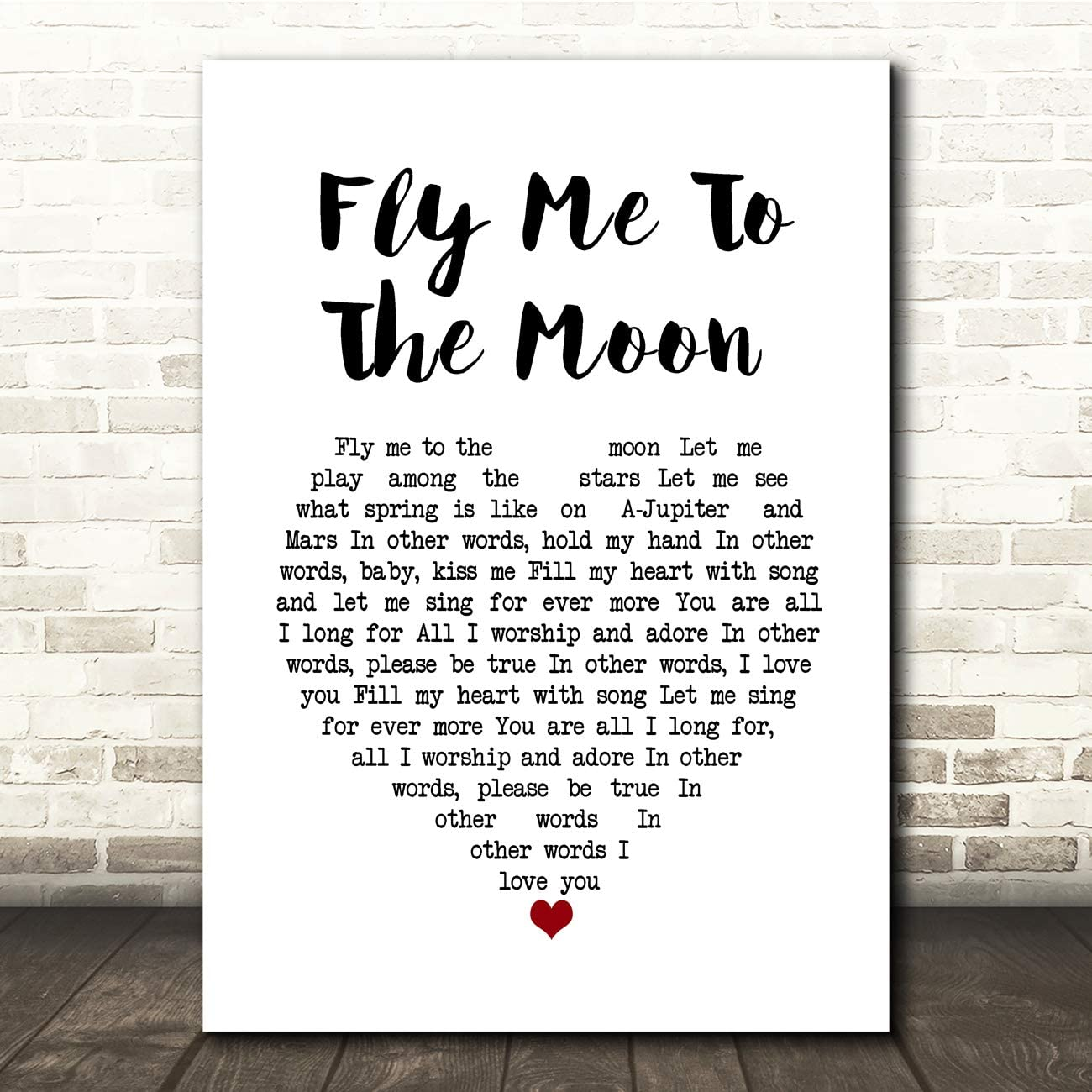To fly the 歌詞 me moon