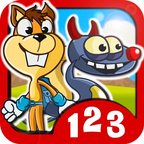 Monster Numbers: Juegos de matemáticas para niños de escuela primaria