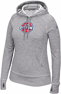 adidas Detroit Pistons NBA Grey Team Issue Climawarm Pullover Hoodie Women