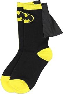 Superhero DC Comics Batman amarillo negro chicos jóvenes Caped Crew Socks (7-9)