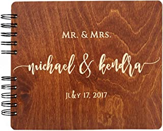 wooden wedding guest book australia