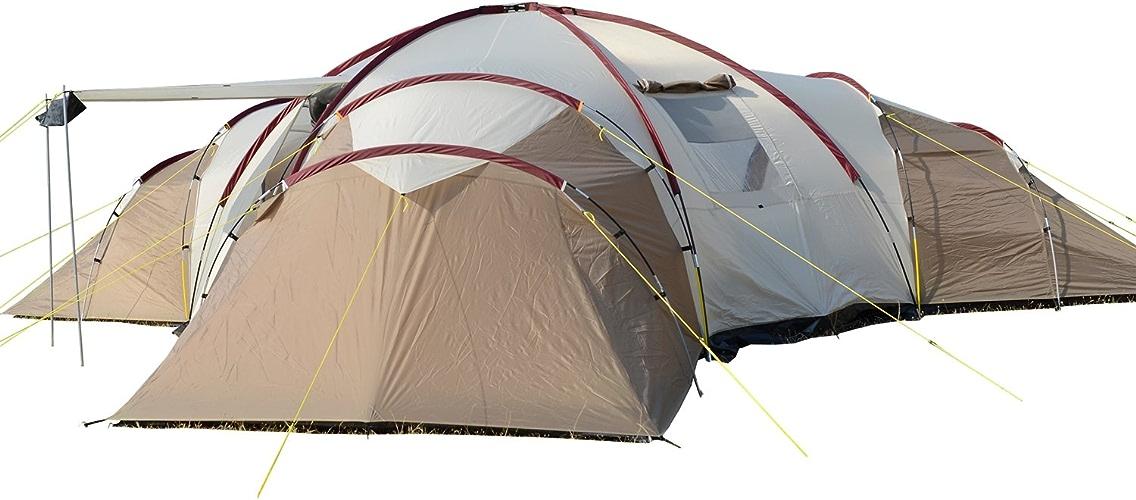 SKANDIKA Turin 12 – Tente Camping Familiale 12 Personnes - 840x720x200cm - 3 Cabines