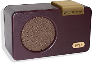 $169 » SMPL One-Touch Music Player, Audiobooks + MP3, Quality-Sound, Durable Wooden Encloser with Retro Look, 4GB USB with 40 Nos...