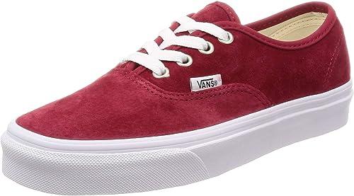 Vans Authentic Velours Femme Rouge