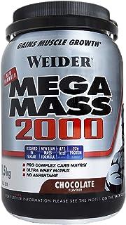 Weider Mega Mass 2000 Sabor Chocolate (1500 g). 67% de hidratos y 16% proteínas. Enriquecido con...