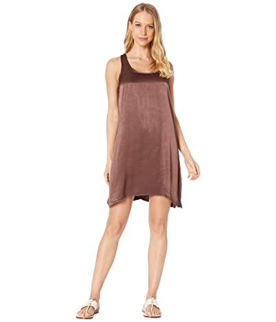 Hard Tail A-Line Tank Dress (Mocha) Women