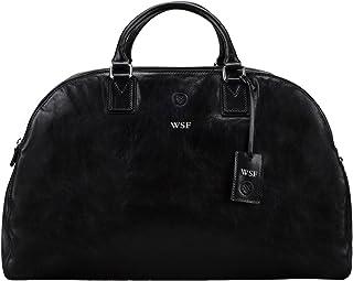 Maxwell Scott® personalizzato di lusso in pelle italiana da donna borsone (la Lilianal), Night Black (Nero) - LilianaL_908_4