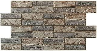 Panel de PVC imitación piedra expandida oscura grosor 0,4