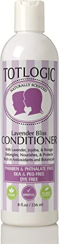 TotLogic Kids & Baby Safe Conditioner - 8 oz , Lavender Bliss, Infused with Natural Jojoba Oil and Rich in Antioxidan...