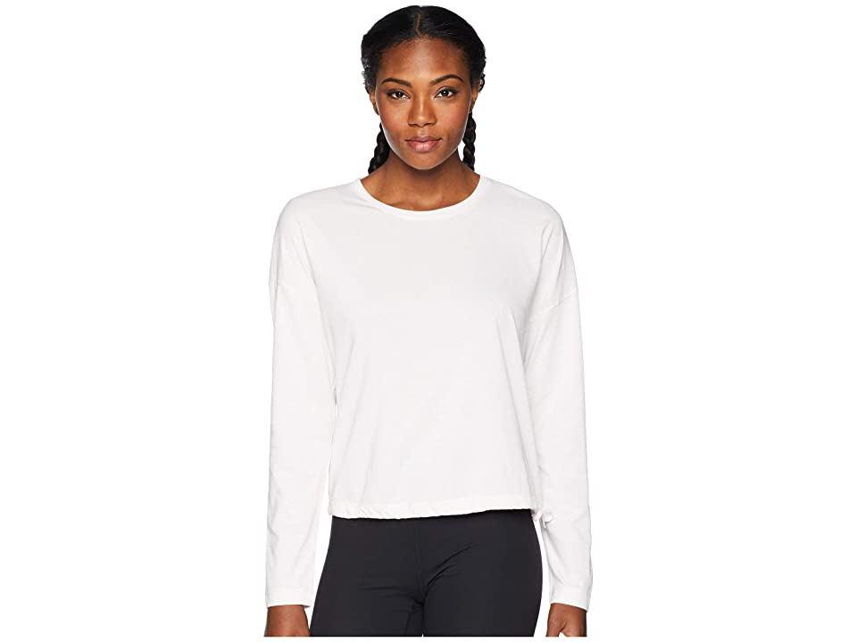 New Balance Heather Tech Long Sleeve Top (Himalayan Pink Heather/White) Women