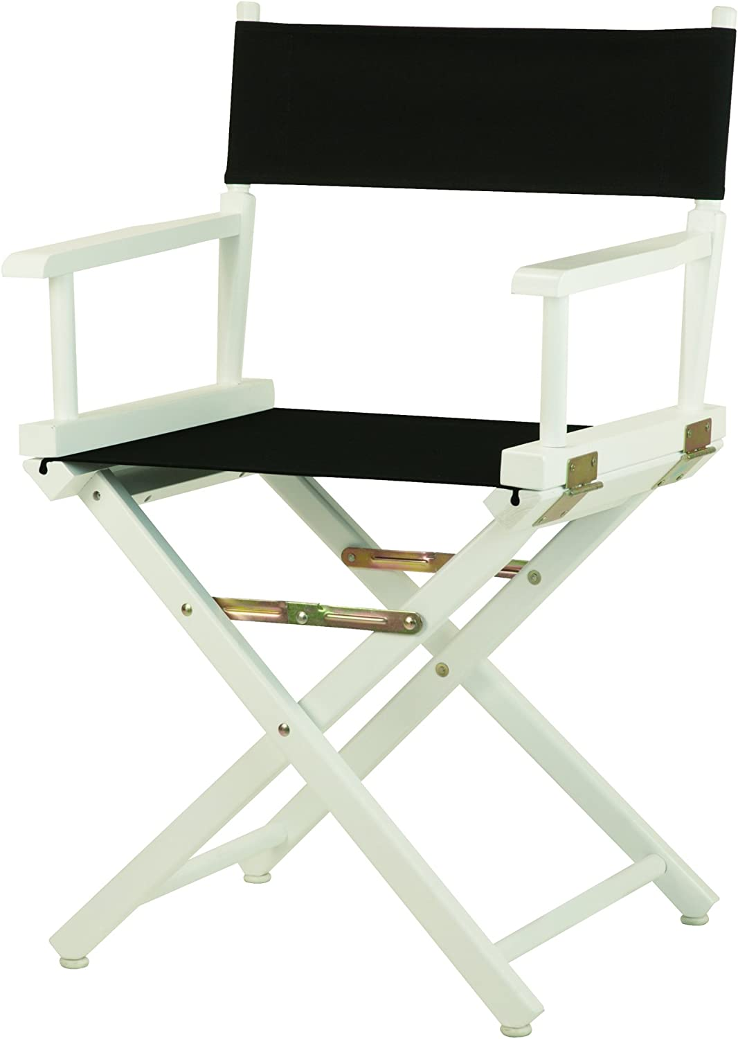 Casual Home 18-Inch Director Chair White Frame, Black Canvas