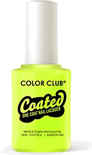 Color Club One-Step Nail Lacquer, Yelling Yellow, 0.5 Fluid Ounce