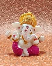 "Sawcart 2.5"" Lord Ganesha/Ganpati Small Statue Decorative Puja Idol Figurine Sculpture Hindu God of Success Prosperity Goo..."
