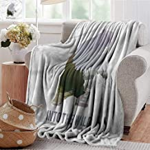 Xaviera Doherty Throw Blanket Cabin,Wild Animals Canada Hunting 300GSM,Super Soft and Warm,Durable Throw Blanket 70
