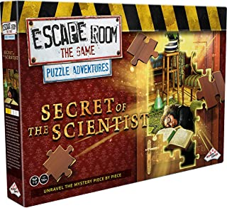 Escape Room The Game, Puzzle Adventures: Secret of The Scientist Jigsaw Puzzle & Escape Room Board Game for Adults and Teens