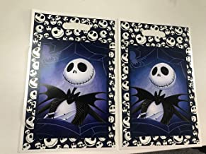 "Jack Skellington Loot Goody Goodie Gift Bag, 6.5"" x 10"" Pearly Plastic, Partyware Tableware Party Favor Bag for Pinata Candy Decorations -10 pcs, Nightmare Before Christmas, Halloween, Skeleton"