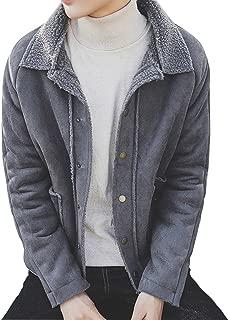 (リグリ) LIGLI ボアコート ランチコート 暖かい メンズ コート フェイクムートン カッコいい スタイルアップ 収納袋セット