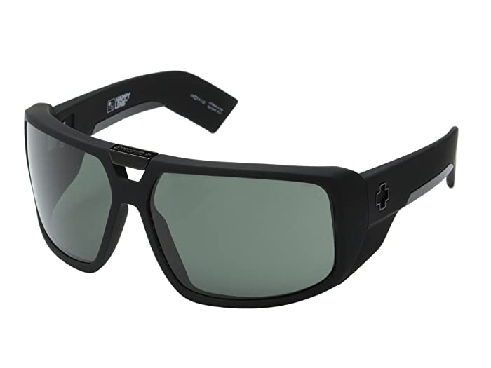 Spy Optic Touring (Soft Matte Black/HD Plus Gray Green) Sport Sunglasses