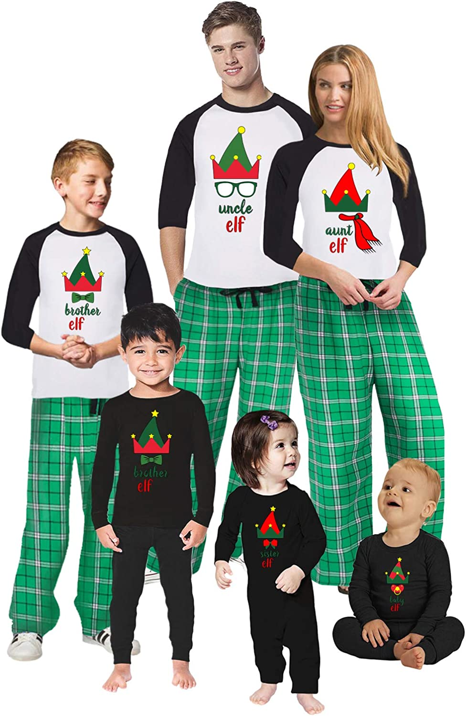 Awkward Styles Christmas Pajamas for Family Xmas Elf Uncle Aunt Matching Christmas Sleepwear Men PJ Set Style 6 M