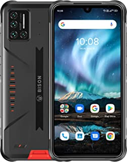 Robuuste smartphone, UMIDIGI BISON IP68 en IP69K waterdichte stofdichte outdoor smartphone, 6,3 inch FHD+volledig scherm m...
