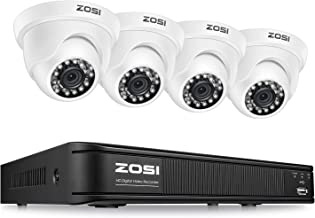 ZOSI 1080P 8 Channel Video Security Camera System,Surveillance DVR Recorder and 4 x 1080p..
