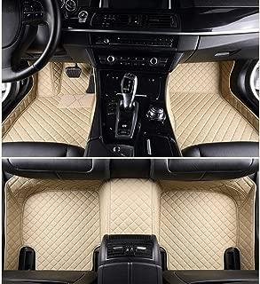 ALLYARD Custom Car Floor Mats for Volkswagen Golf Variant 2008-2011 All Weather Non-Slip Full Surrounded Advanced Performance Liners Luxury Leather Full Covered Car Carpet Floor Liner Beige
