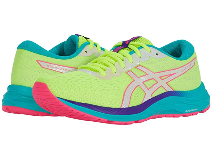 ASICS  GEL-Excite 7 (Safety YellowithWhite) Womens Running Shoes