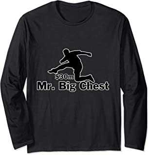 Mr Big Chest - Football Player Hurdling Money Long Sleeve T-Shirt