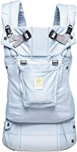LÍLLÉbaby The Complete Organi-Touch SIX-Position 360 Ergonomic Baby & Child Carrier, Powder Blue - Organic Cotton Baby Carrier
