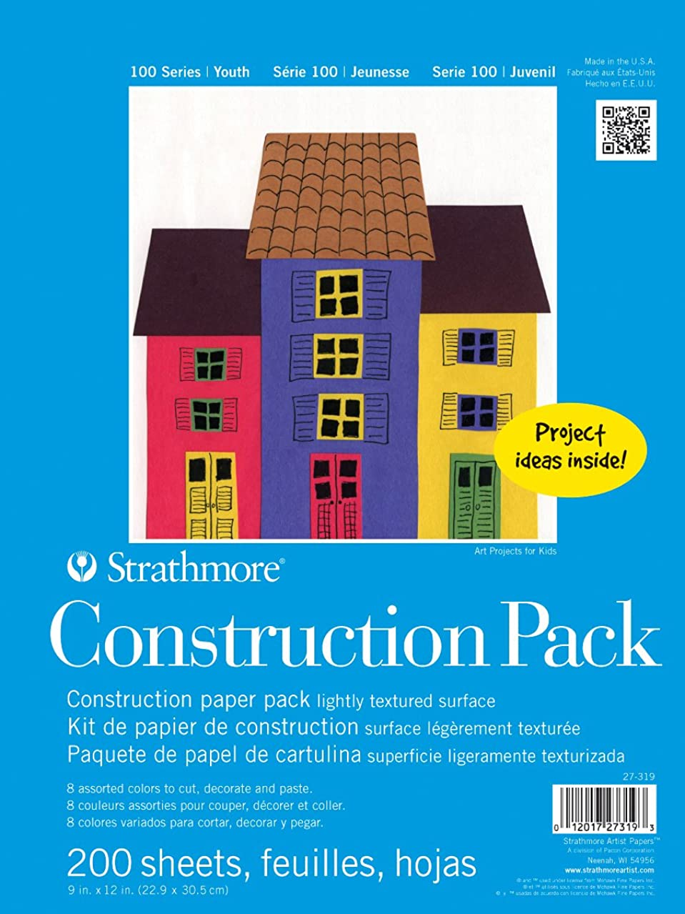 Strathmore 100 Series Youth Construction Paper Pack, Bulk Pack 200 Sheets