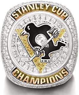 AONEW 2016 Pittsburgh Penguins Stanley Cup Championship Ring Collectible for Fans Without Display Case Size 9-12
