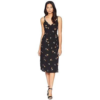 1.STATE Spaghetti Strap Wrap Front Dress (Rich Black) Women
