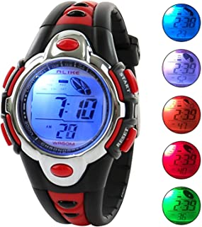 Vavna Flash Lights 50m Waterproof Chronograph Digital Boys Girls Sports Watch Alarm