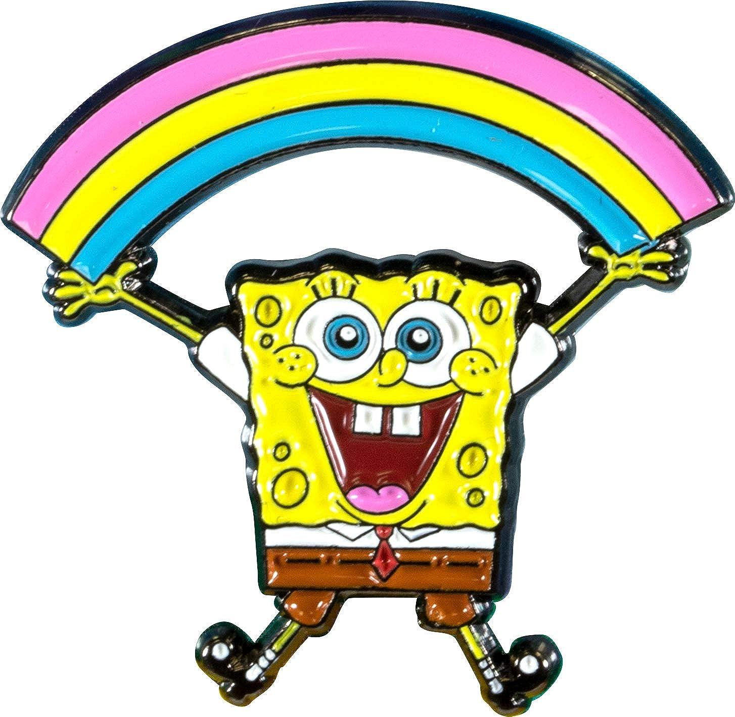 AQUARIUS Spongebob Rainbow Enamel Pin, Multicolor, 875