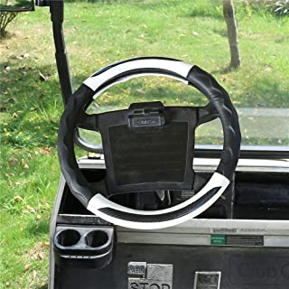 "10L0L Golf Cart Steering Wheel Cover for Club Car, 14"" Easy to Install and Feels Good in Handling"