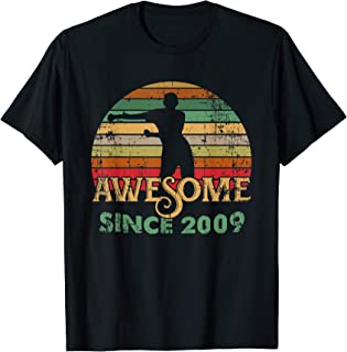 Vintage Flossing Awesome Since 2009 10th yrs Birthday Gifts T-Shirt