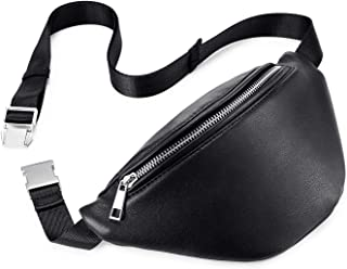 Realer Fanny Pack for Women Leather Waist Bag Fashion Bum Bag