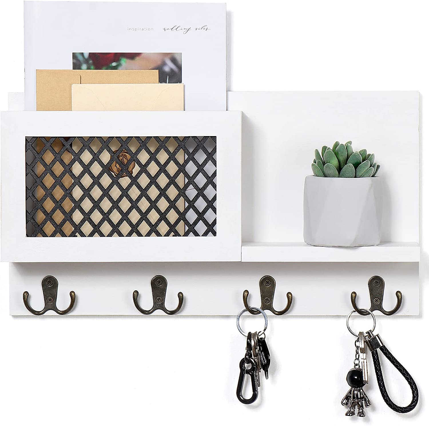 Lowest price challenge Key and Mail Holder for - Latest item Organizer Rustic Wall Decorative