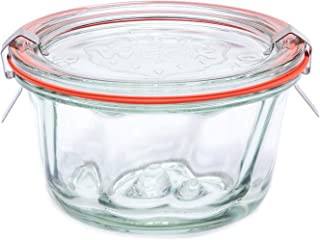 2 Set Weck Mold Jar 568, Weck Glass Jars, Reusable Baking Jars, 9.8oz Bundt Cake Jar. Durable & Reusable Transparent Glass...