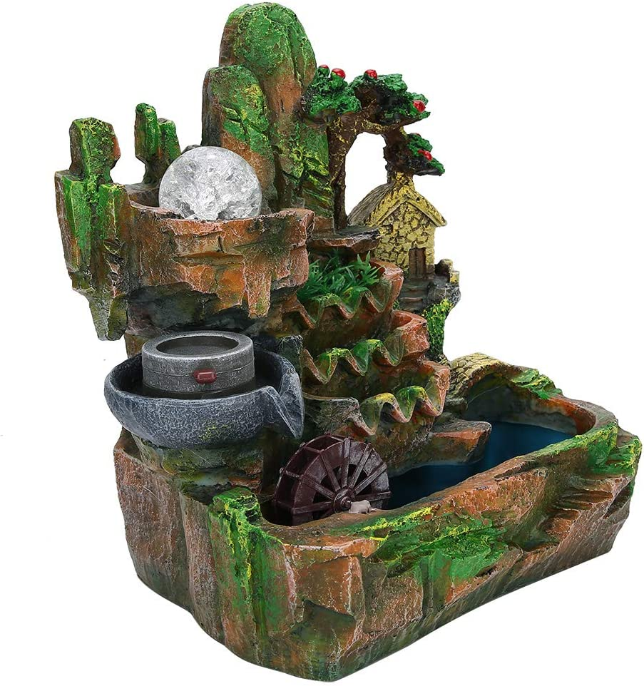 01 Special price for a limited time Landscape Fountain Rockery Col Decoration 25% OFF Three-Dimensional