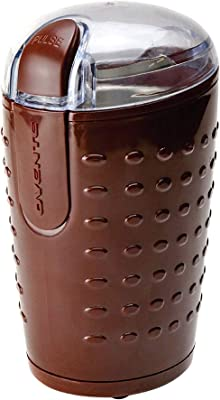 Ovente Electric Small Coffee Grinder 2.5 Ounce Storage, Portable & Compact 150 Watt Fresh Grinding Mill with Stainless Steel Blade for Bean Spices Herb or Tea, Perfect at Home & Kitchen, Brown CG225BR