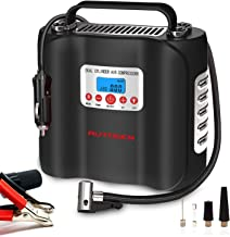 AUTOGEN Dual Cylinder Air Compressor Pump 180W 120 PSI 12V, Portable Digital Tire Inflator with Analog Pressure Gauge (AC/DC) for Car Trucks - Bicycle - Motorcycle - Balls and Others