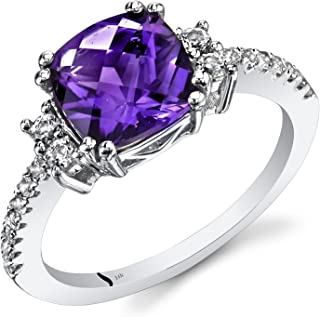 Best 14k white gold amethyst ring Reviews