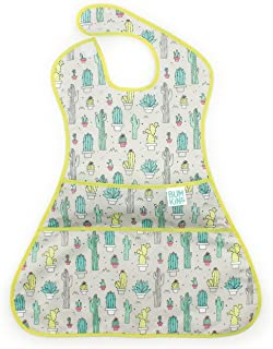 Bumkins SuperSized SuperBib, Oversized Baby Bib, Waterproof, Washable, Stain and Odor Resistant, 6-24 Months – Cactus